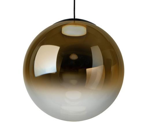 Pendelleuchte Relex aus verspiegeltem Glas, Lampenschirm: Glas, Bernsteinfarben, Transparent, Ø 40 x H 40 cm