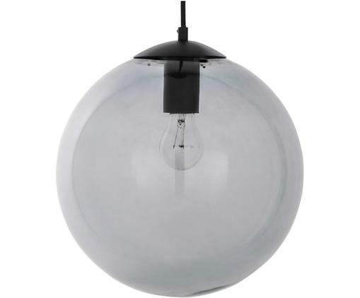 Kugel-Pendelleuchte Beth aus Glas, Lampenschirm: Glas, Grau, Schwarz, Ø 30 cm