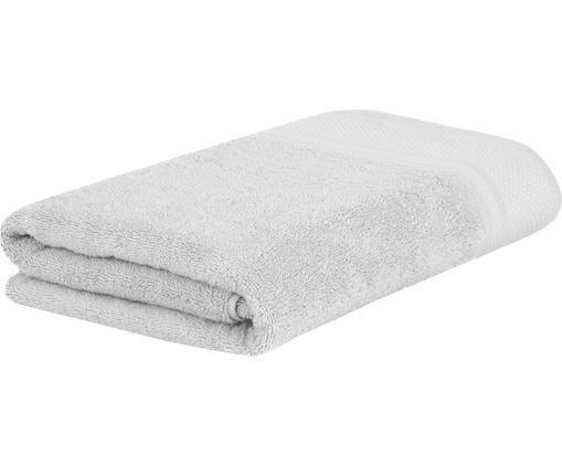 Asciugamano con bordo decorativo Premium, Grigio chiaro, Asciugamano per ospiti Larg. 30 x Lung. 30 cm