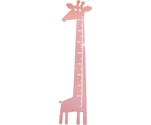 Messlatte Giraffe, Metall, pulverbeschichtet, Rosa, 28 x 151 cm