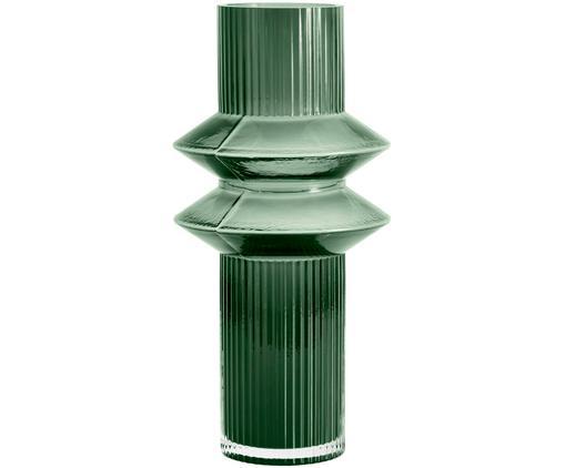 Große Glas-Vase Rilla, Glas, Grün, Ø 9 x H 32 cm