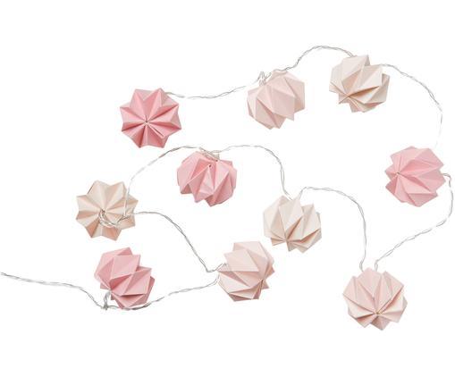 Girlanda świetlna Origami, Papier, Odcienie różowego, D 200 cm