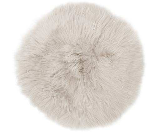 Cuscino sedia in pelliccia di pecora Oslo, Retro: 100% pelle, rivestito sen, Beige, Ø 37 cm