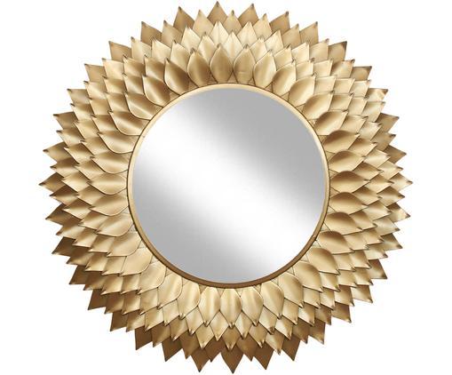 Miroir mural rond avec cadre doré Petal, Couleur dorée
