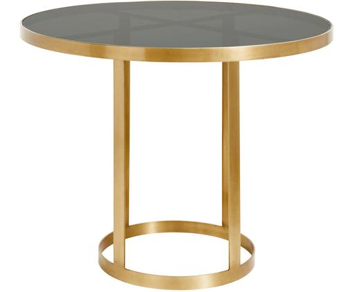 Table ronde en verre Marika, Couleur dorée, transparent
