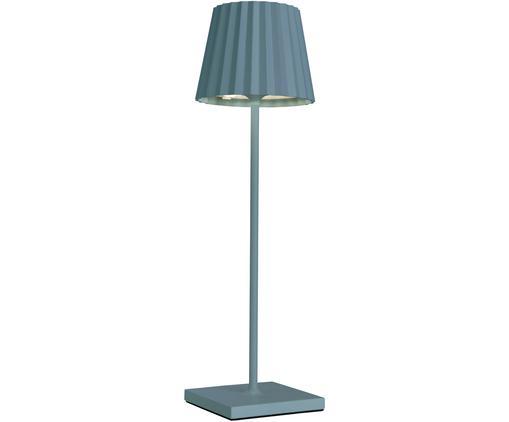 Zewnętrzna mobilna lampa stołowa LED Trellia, Aluminium lakierowane, Niebieski, Ø 15 x W 38 cm