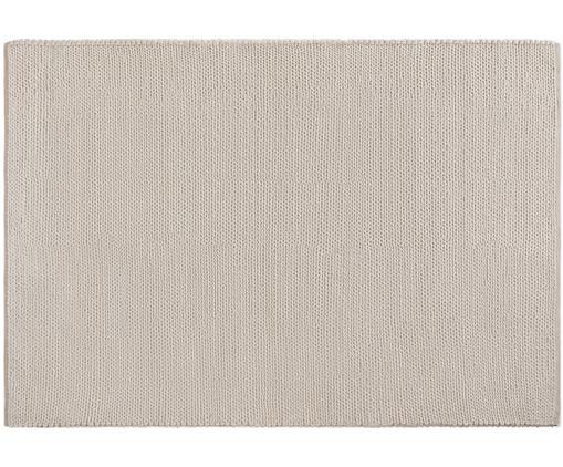 Tappeto in lana tessuto a mano Uno, Retro: cotone, Crema, Larg. 120 x Lung. 170 cm (taglia S)
