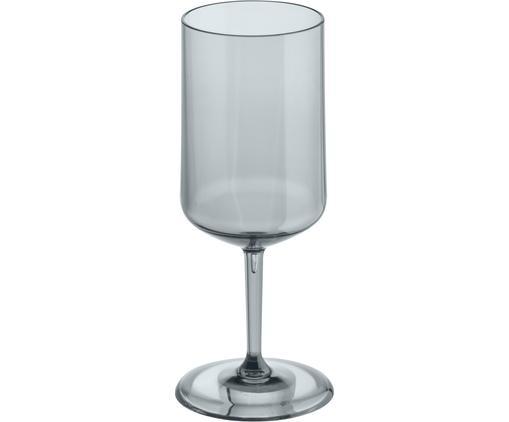 Verre à vin en plastique incassable Cheers, Gris, transparent