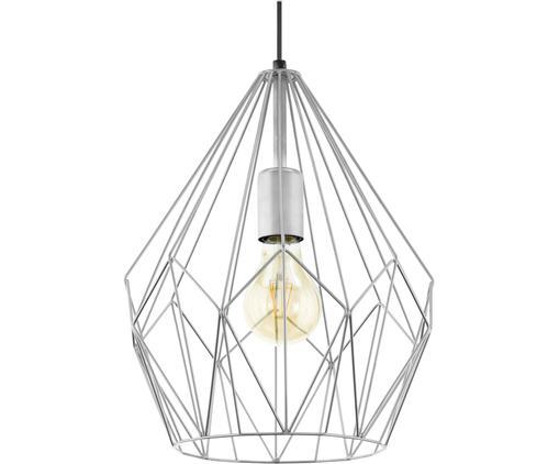 Lampa wisząca Carlton, Odcienie srebrnego, Ø 31 x W 35 cm