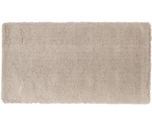 Alfombra mullida de pelo largo Leighton, Parte superior: 100%poliéster (microfibr, Reverso: 100%poliéster, Beige, An 80 x L 150 cm (Tamaño XS)