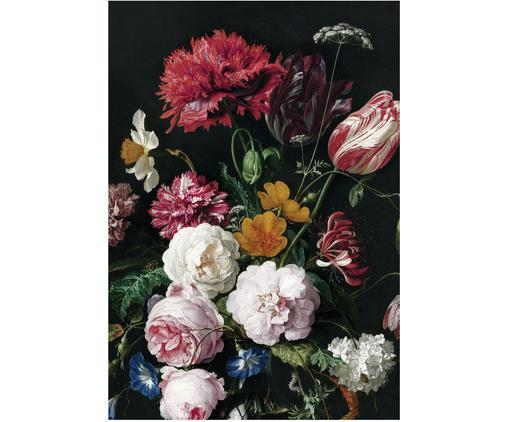 Fotomural Golden Age Flowers, Tejido no tejido, ecológica y biodegradable, Multicolor mate, An 196 x Al 280 cm