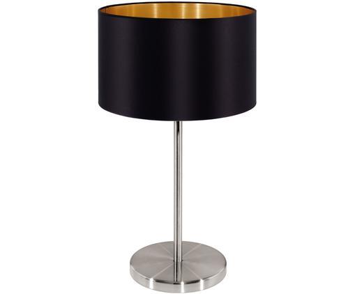 Tischleuchte Jamie, Lampenfuß: Metall, vernickelt, Schwarz,Silberfarben, ∅ 23 x H 42 cm