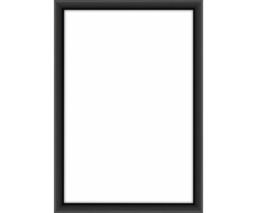 Cornice fotografica Accent, Cornice: alluminio rivestito, Retro: Pannello di fibra a media, Nero, 10 x 15 cm