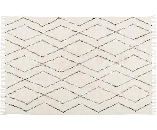 Ręcznie tuftowany dywan Bina, Beżowy, czarny, S 200 x D 300 cm