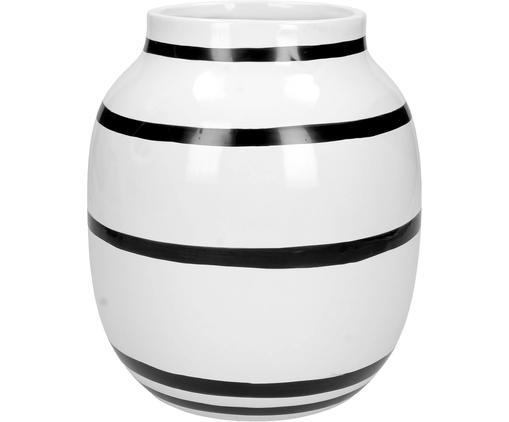 Vaso in terracotta Coldwater, Gres, Bianco, nero, Ø 17 x Alt. 20 cm
