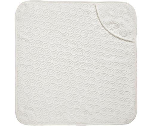 Baby-Badetuch Wave aus Bio-Baumwolle, Bio-Baumwolle, GOTS-zertifiziert, Gebrochenes Weiß, 80 x 80 cm