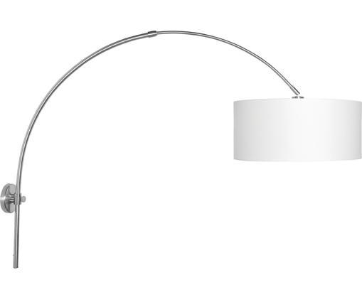 Applique Bolivia, Paralume: cotone, Bianco, Larg. 47 x Alt. 100 cm
