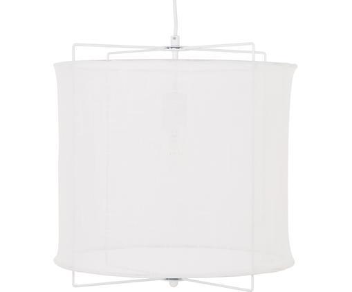 Pendelleuchte Clouds aus Leinen, Lampenschirm: Leinen, Weiß, ∅ 40 x H 40 cm