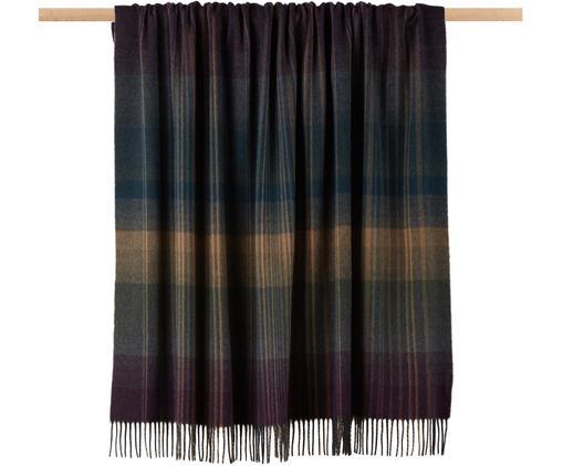 Plaid in cashmere Striped Check, Multicolore