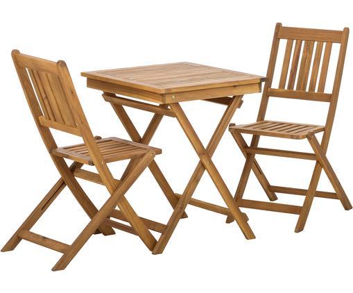 Garten-Sitzgruppe Skyler aus Holz, 3-tlg., Braun, Sondergrößen