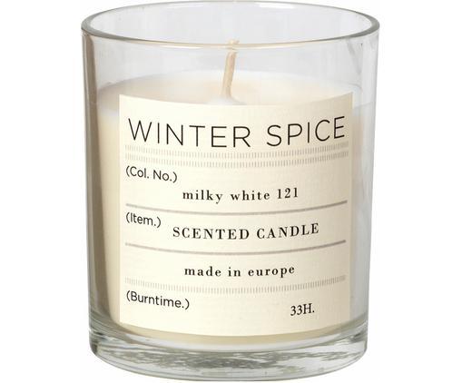 Świeca zapachowa Winter (cynamon), Pojemnik: transparentny Świeca zapachowa: biały