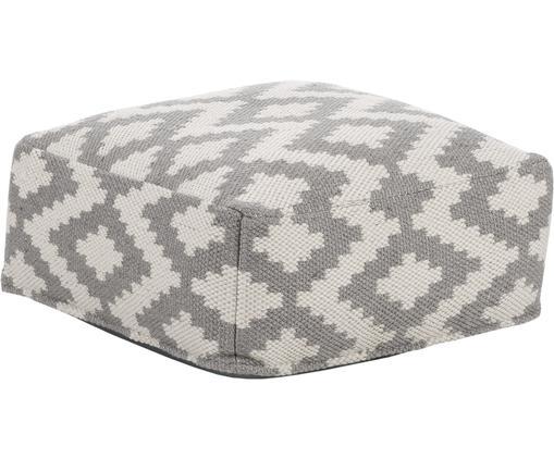 Poduszka podłogowa wewnętrzna/zewnętrzna Napua, Szary, ecru, S 63 x W 30 cm