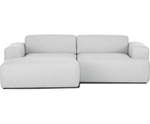 Ecksofa Marshmallow (3-Sitzer), Bezug: Polyester 35.000 Scheuert, Gestell: Massives Kiefernholz, Spa, Füße: Kiefernholz, Webstoff Hellgrau, B 240 x T 144 cm