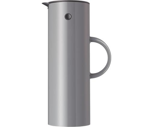 Isolierkanne EM77 in Grau glänzend, ABS-Kunststoff, im Inneren mit Glaseinsatz, Granitgrau, 1 L