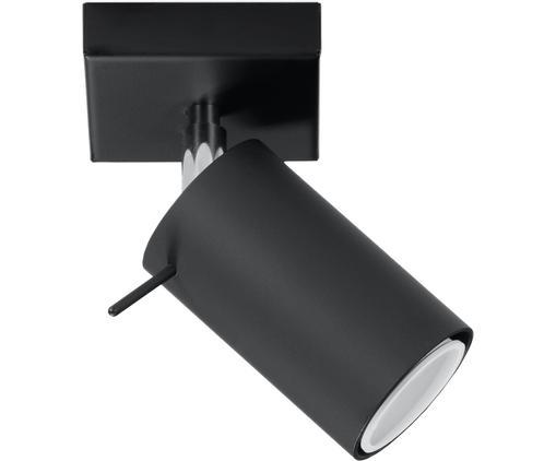 Lampa sufitowa Etna, Stal lakierowana, Czarny, S 10 x W 15 cm