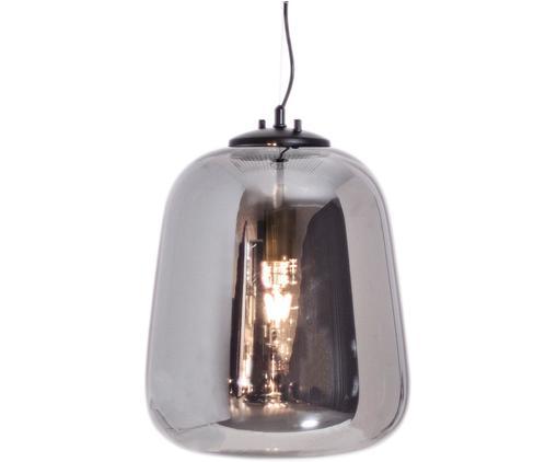 Pendelleuchte Leola aus verchromten Glas, Lampenschirm: Glas, verchromt, Chromfarben, Schwarz, Ø 33 x H 40 cm