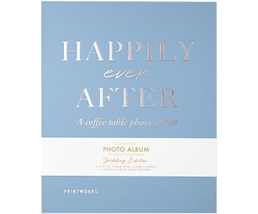 Fotoalbum Happily Ever After, Blau, Weiß, Silberfarben, Schwarz, 26 x 32 cm