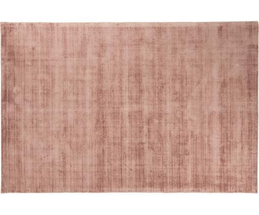 Alfombra artesanal de viscosa Jane, Parte superior: 100%viscosa, Reverso: 100%algodón, Terracota, An 200 x L 300 cm (Tamaño L)