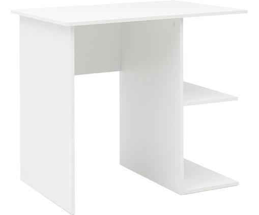 Scrivania in bianco opaco Milo, Truciolato, melaminico, Bianco, Larg. 82 x Alt. 76 cm
