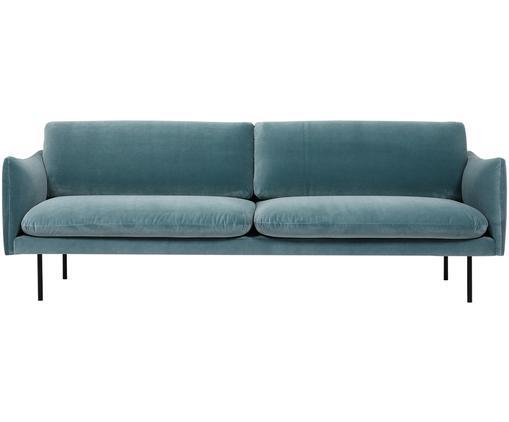 Canapé en velours Moby (3places), Turquoise