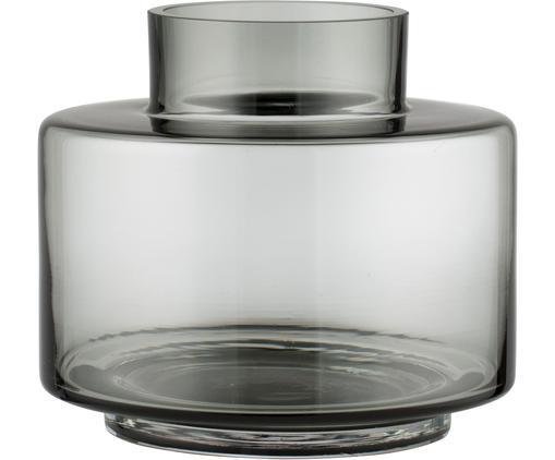 Petit vase en verre soufflé bouche Hedria, Fumé