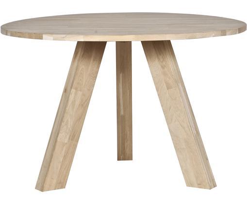 Table ronde en bois massif Rhonda, Bois de chêne