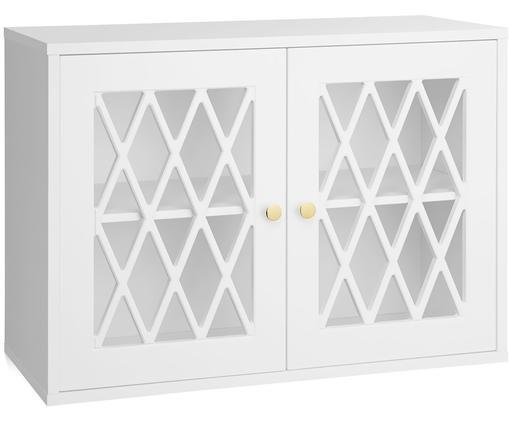 Schrank Harlequin, Holz, lackiert, Weiß, 70 x 50 cm