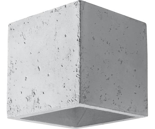 Wandleuchte Quad, Beton, Gebrochenes Weiß, 10 x 12 cm