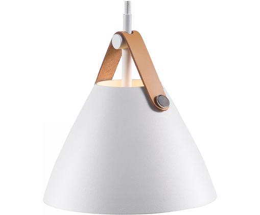 Lámpara de techo pequeña Strap, Pantalla: metal con pintura en polv, Anclaje: plástico, Blanco, Ø 16 x Al 17 cm