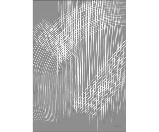 Poster Field, Digitaldruck auf Papier, matt  (180 g/m²), Grau, Weiß, 21 x 30 cm