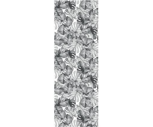 Fototapete Monstera, Vlies, umweltfreundlich und biologisch abbaubar, Schwarz, Weiß, 97 x 280 cm