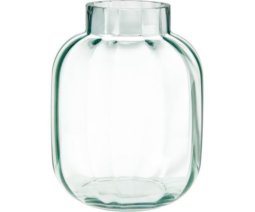Glas-Vase Betty in Hellgrün, Glas, Hellgrün, transparent, Ø 18 x H 22 cm