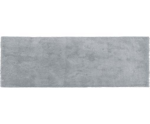 Alfombra de pelo largo Leighton, Parte superior: 100%poliéster (microfibr, Reverso: 100%poliéster, Gris oscuro, An 80 x L 250 cm