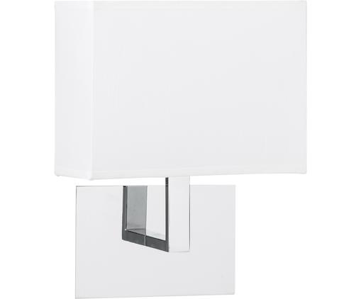 Applique Lina, Metallo, tessuto, Bianco, Larg. 20 x Alt. 25 cm