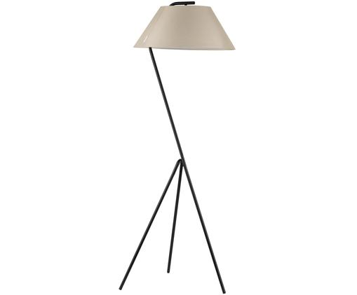 Lampada da terra Narve, Base della lampada: metallo rivestito, Paralume: poliestere, Nero, beige, Larg. 53 x Alt. 154 cm