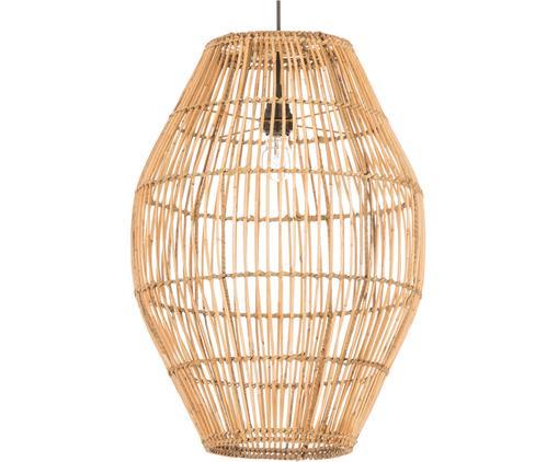 Lámpara de techo Dome, Ratán, natural, Negro, ratán, natural, Ø 40 x Al 60 cm
