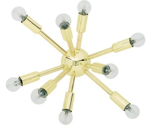 Lampada da parete e soffitto in oro Spike, Baldacchino: metallo, Paralume: metallo, Dorato, Larg. 42 x Alt. 30 cm