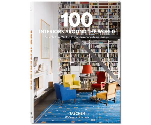 Libro 100 Interiors Around the World, Cornice con copertina, Multicolore, Lung. 20 x Larg. 15 cm