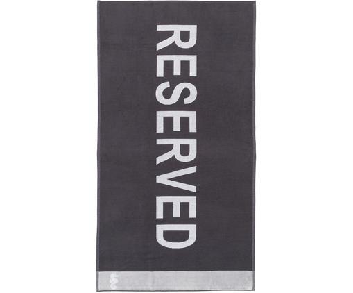 Ręcznik plażowy Reserved, Antracytowy, biały, S 100 x D 180 cm