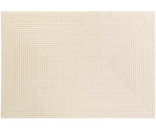 Tappeto con effetto a rilievo Diamond, Retro: 70% iuta, 30% lattice sin, Crema, beige chiaro, Larg. 140 x Lung. 200 cm